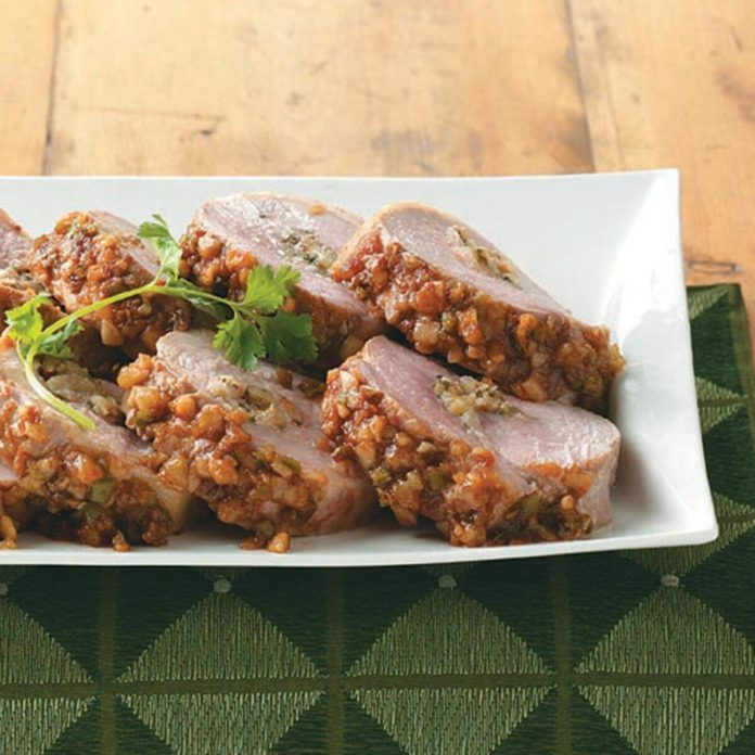 Pear-Stuffed Pork Loin