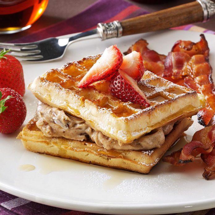 Pecan-Stuffed Waffles