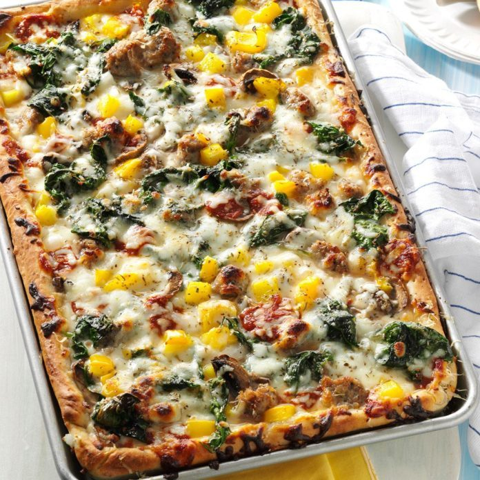 Pepper Sausage Pizza