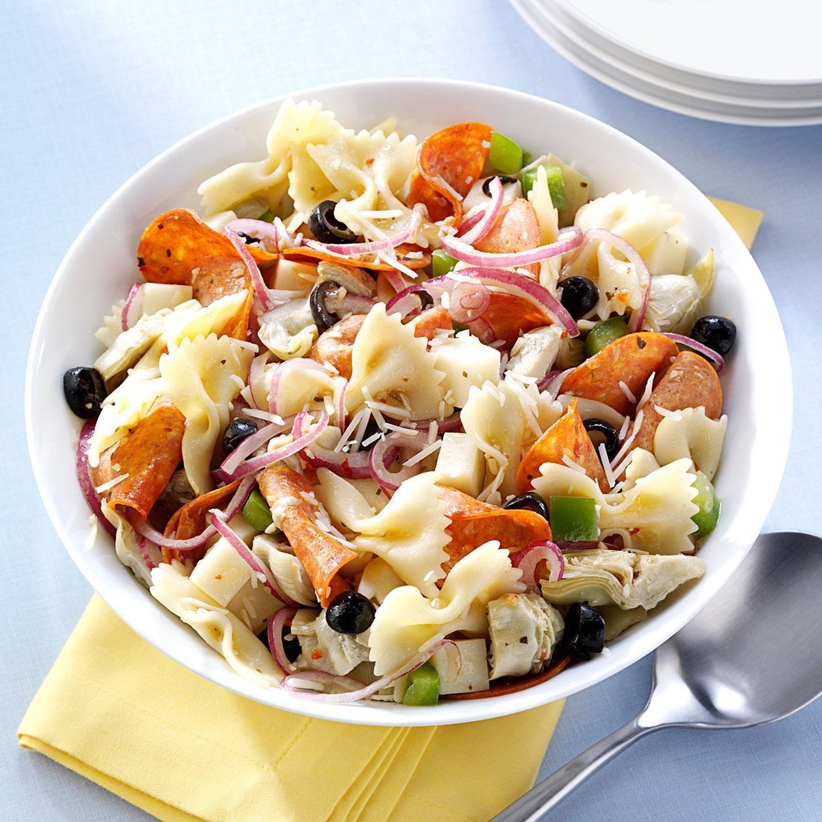 Pepperoni Artichoke Pasta Salad