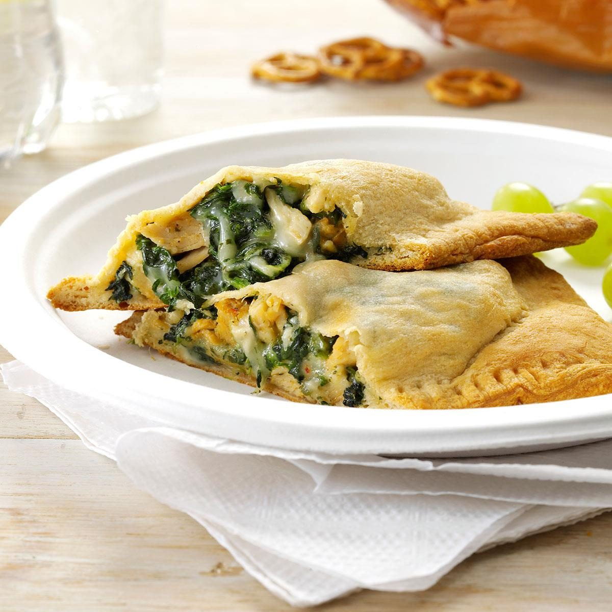 Pita Kitchen Sacramento: Pesto Chicken Turnovers Recipe