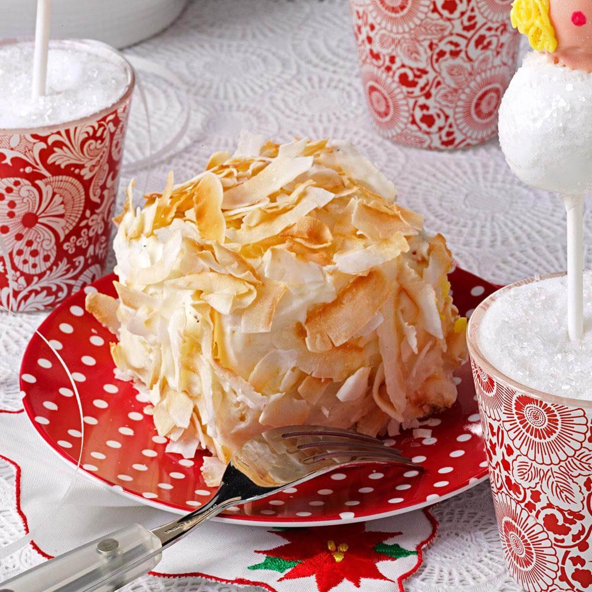 Pineapple Cake Mix Recipes: Petite Pineapple Coconut Cakes Recipe