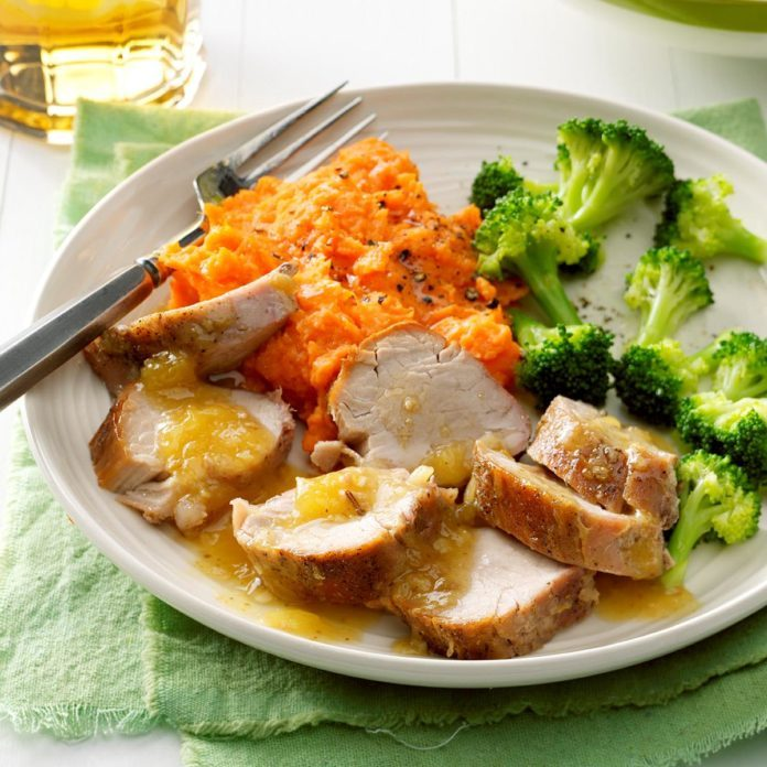Pineapple-Glazed Pork Tenderloin