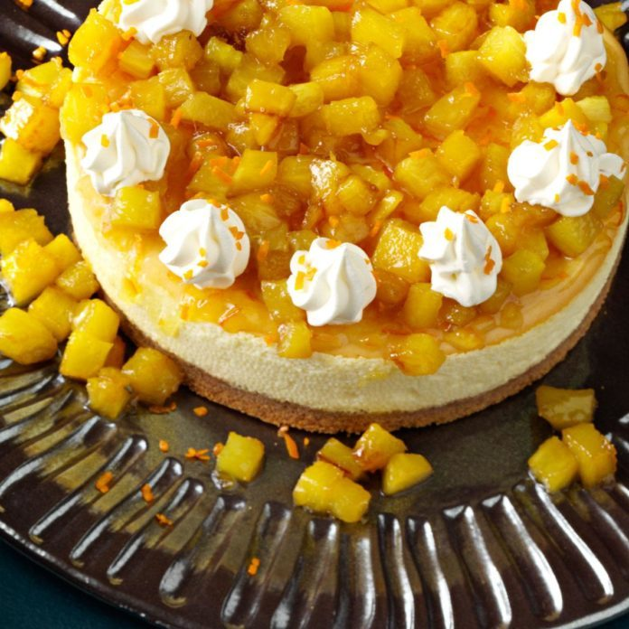 Pineapple Orange Cheesecake
