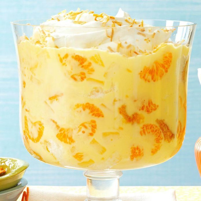 Pineapple Orange Trifle