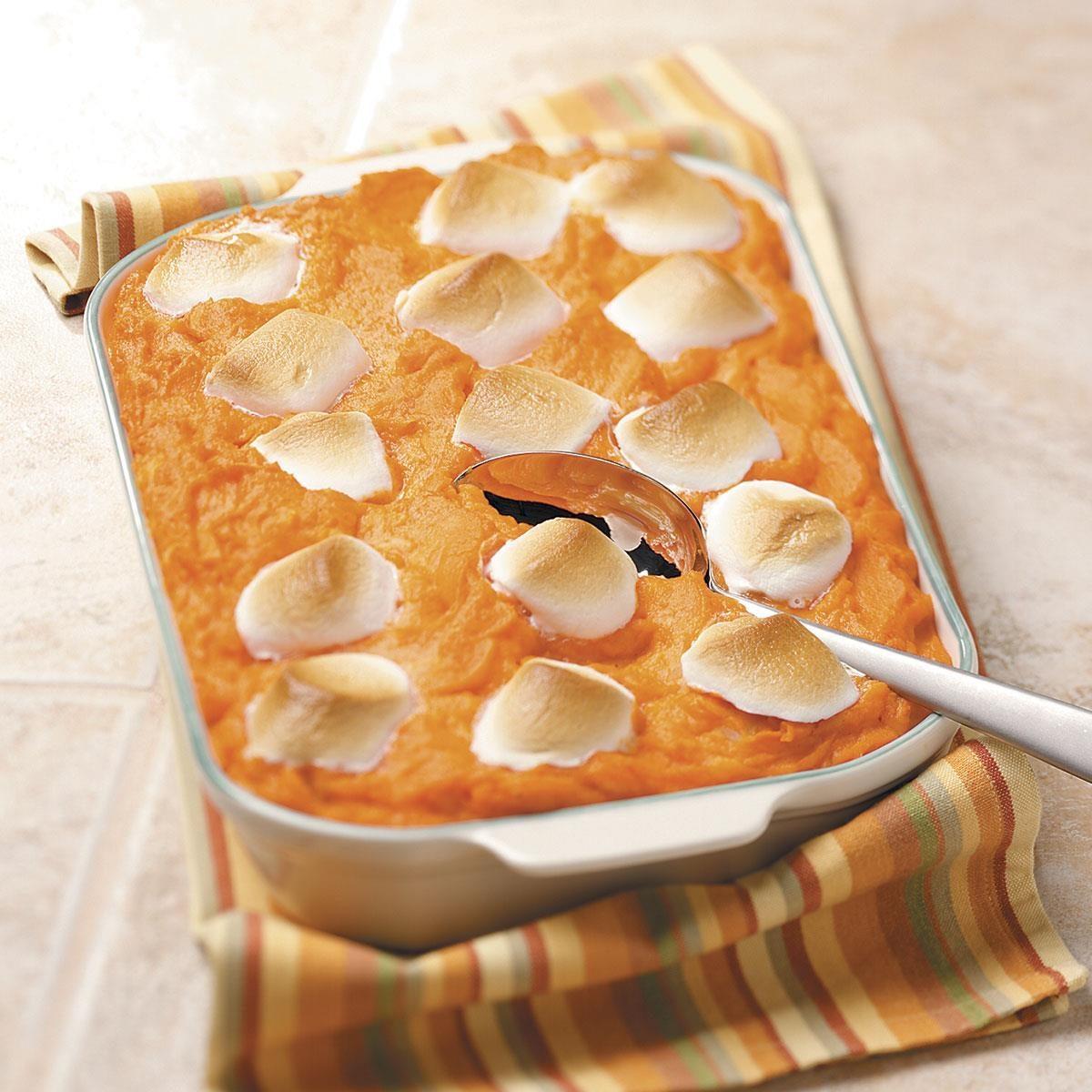 Pineapple Sweet Potato Casserole With Marshmallows Recipe Taste Of