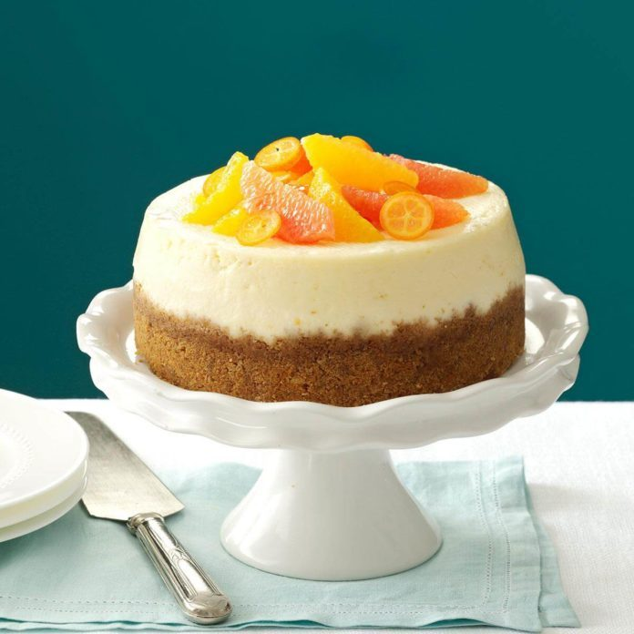 Pink Grapefruit Cheesecake