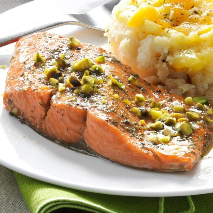 Day 7 Dinner: Pistachio Baked Salmon