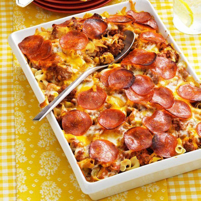 West Virginia: Pizza Noodle Bake