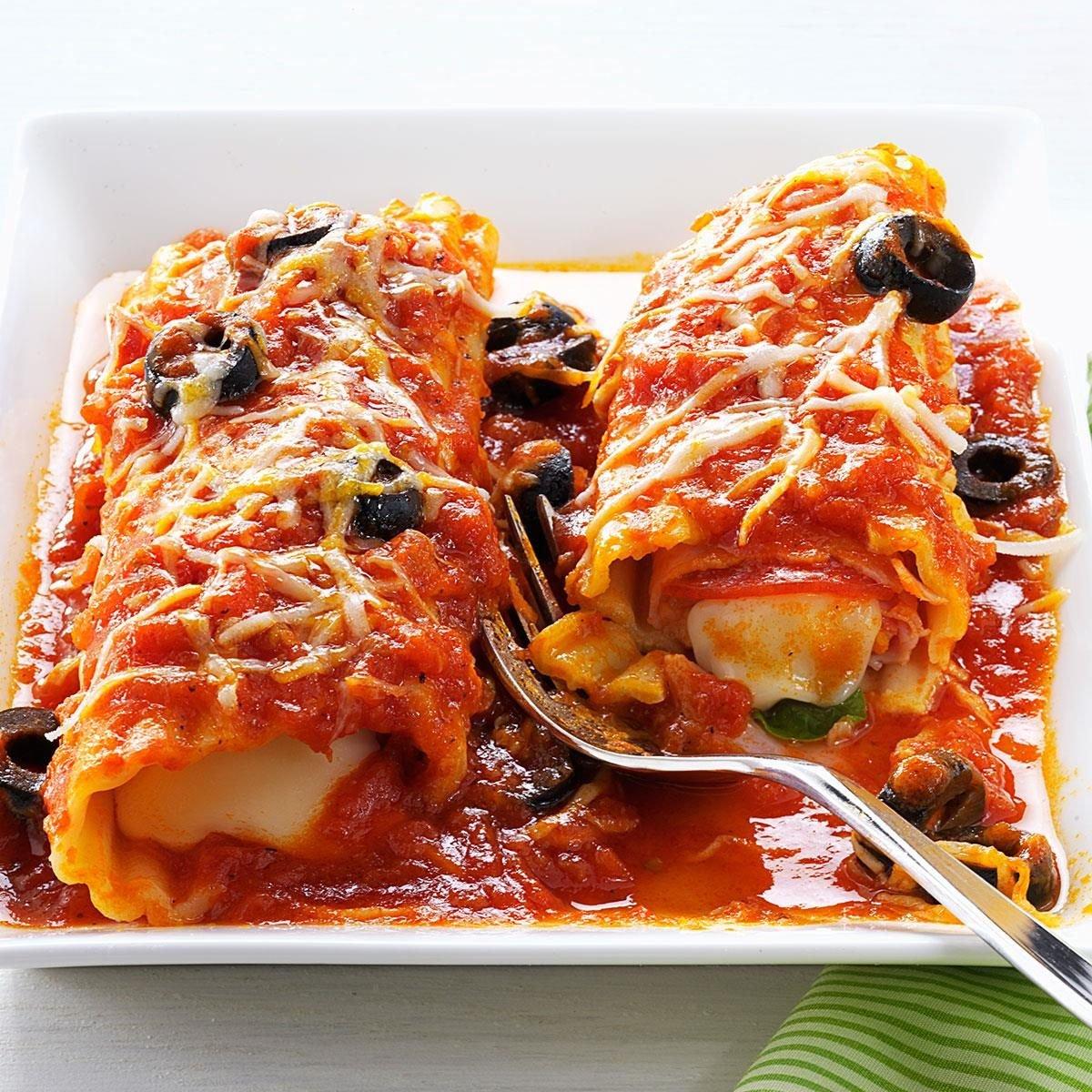 Pizza Style Manicotti Recipe Taste Of Home