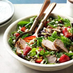 Pork and Balsamic Strawberry Salad