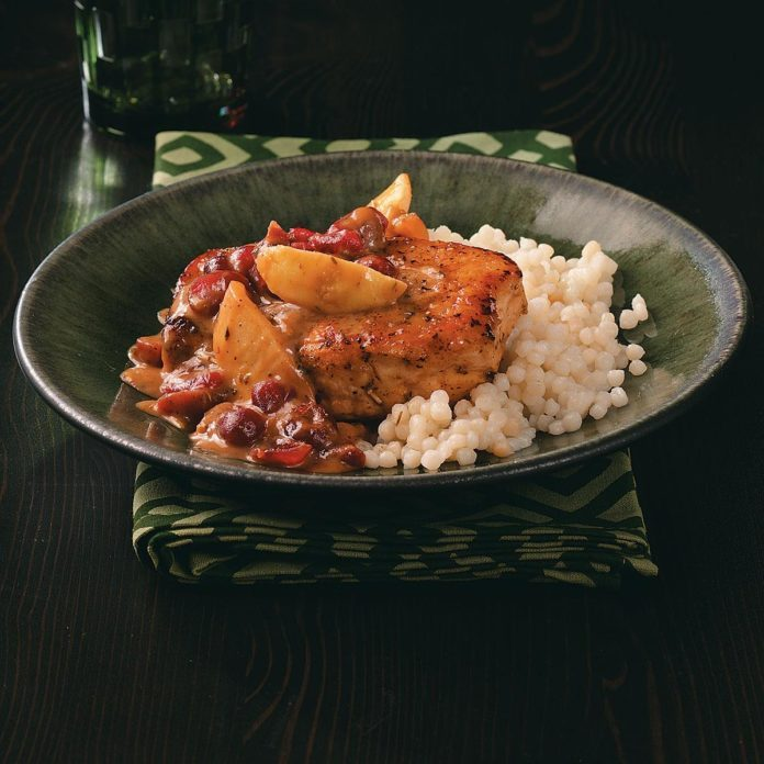 Pork Chops with Cranberry Dijon Sauce