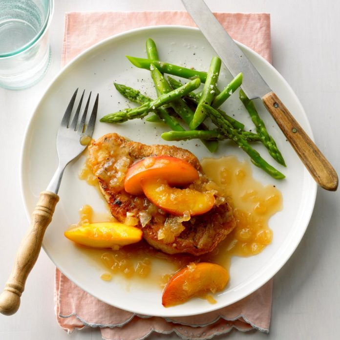 Pork Chops with Nectarine Sauce