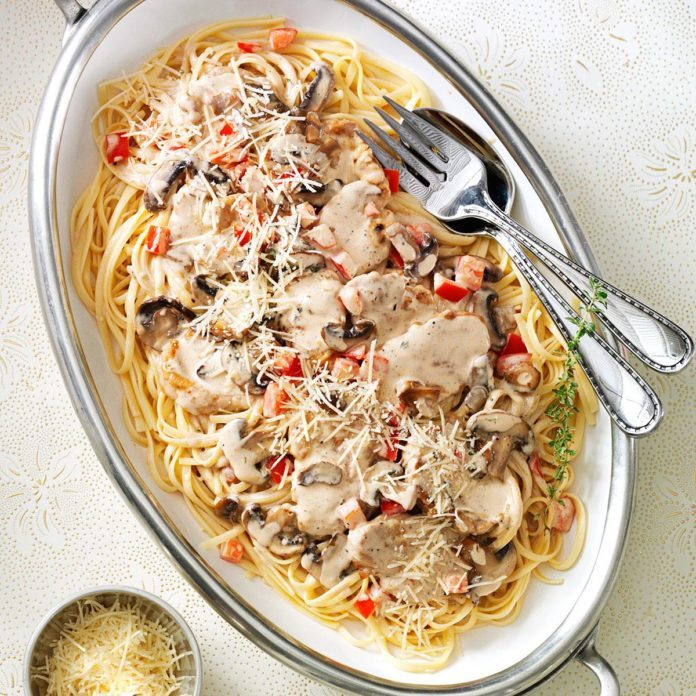 Pork Medallions with Brandy Cream Sauce