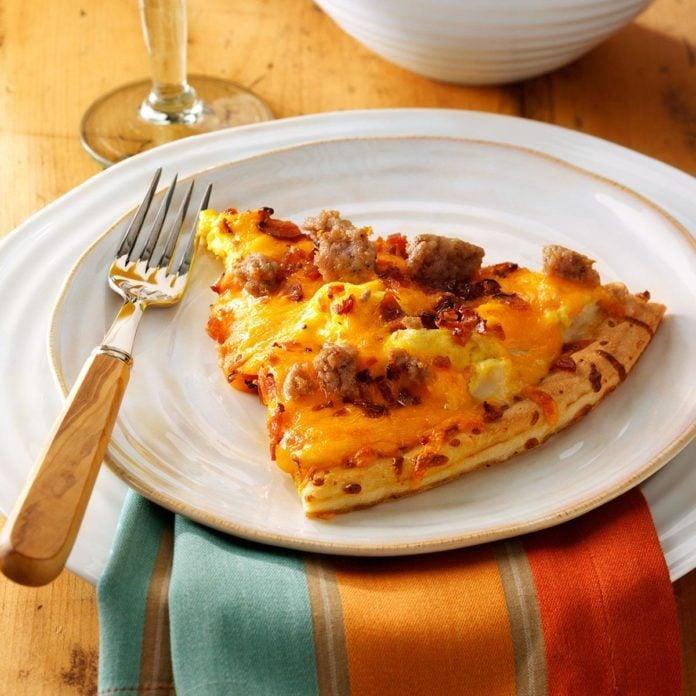 Pork Sausage Brunch Pizza