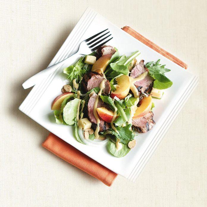Pork Tenderloin Nectarine Salad