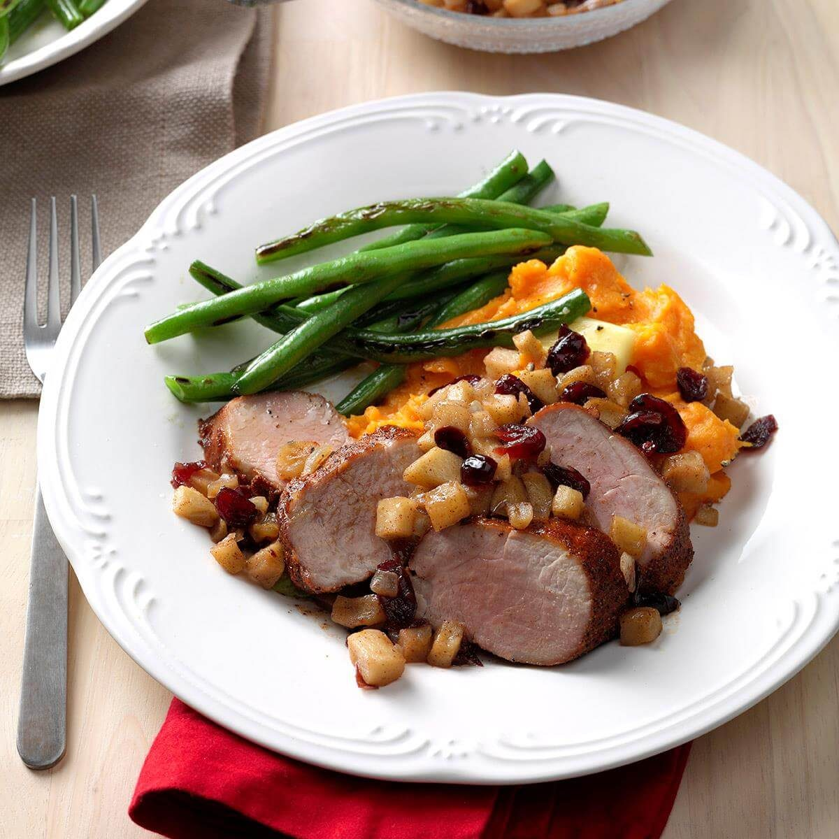 Pork Tenderloin Recipes: Pork Tenderloin With Cranberry Apple Chutney Recipe