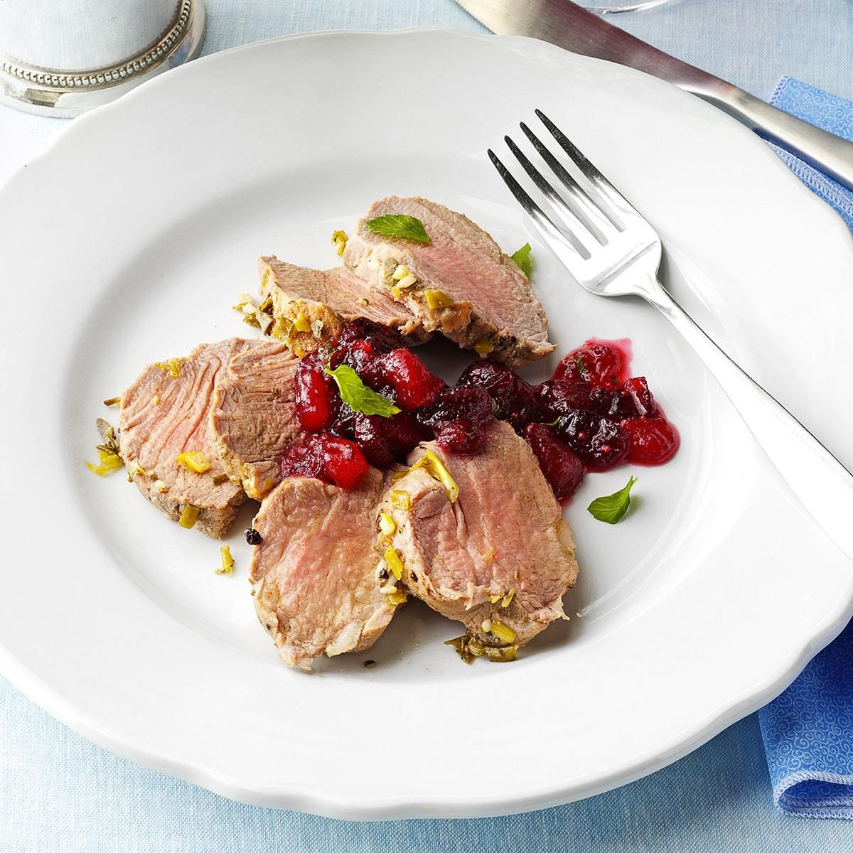 Pork Tenderloin with Cranberry-Pear Chutney
