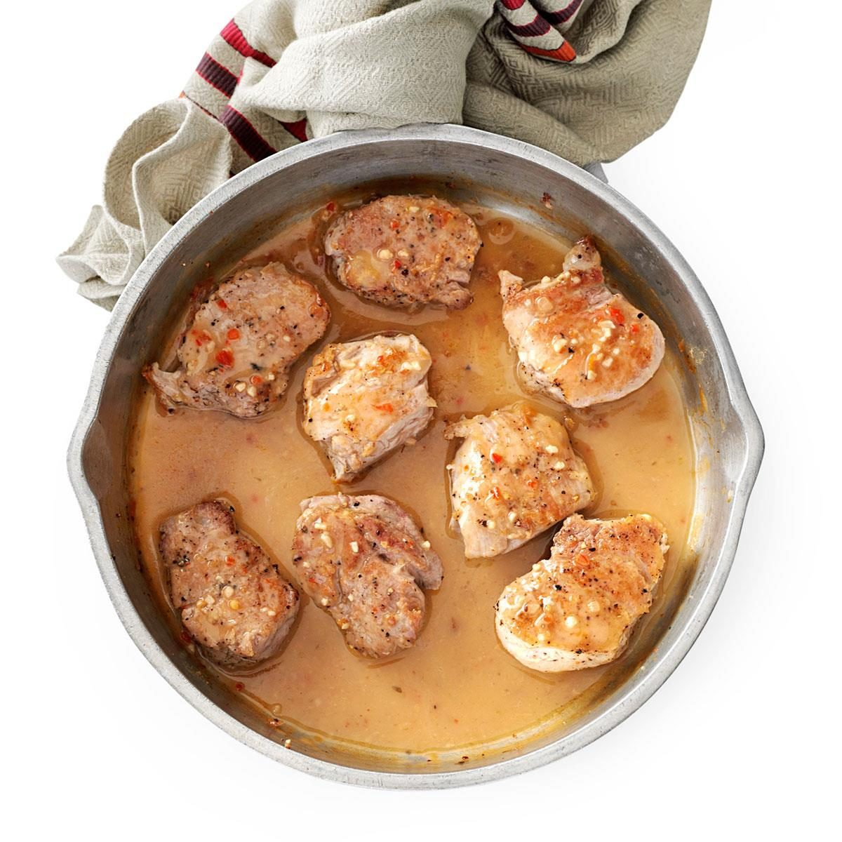 Pork Tenderloin Recipes: Pork Tenderloin With Zesty Italian Sauce Recipe