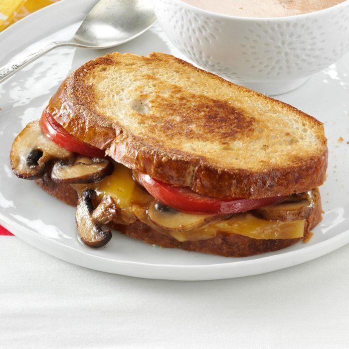 January: Portobello-Gouda Grilled Sandwiches