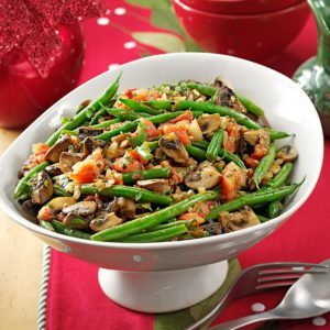 Portobello & Green Bean Saute