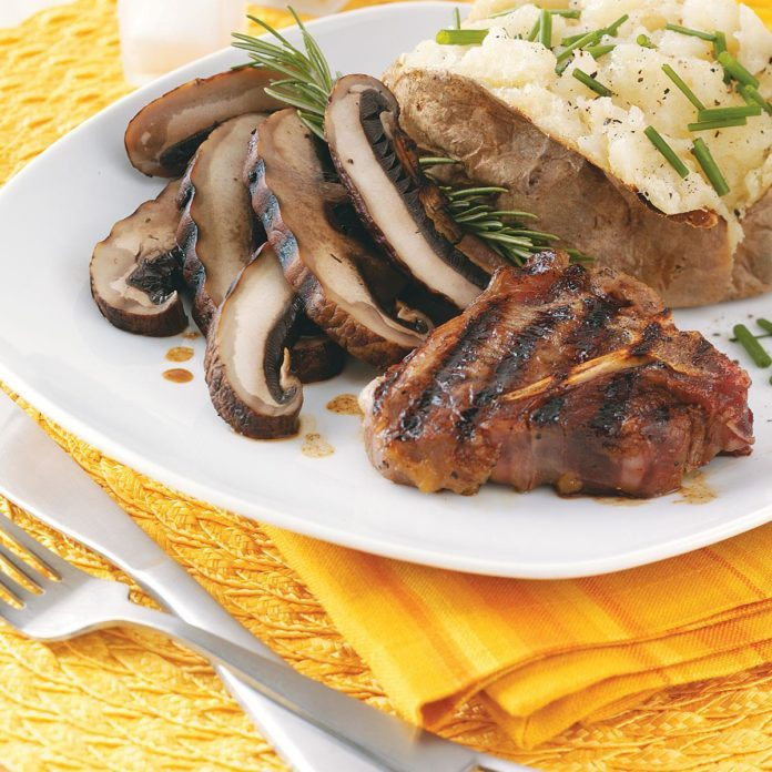 Portobello Lamb Chops