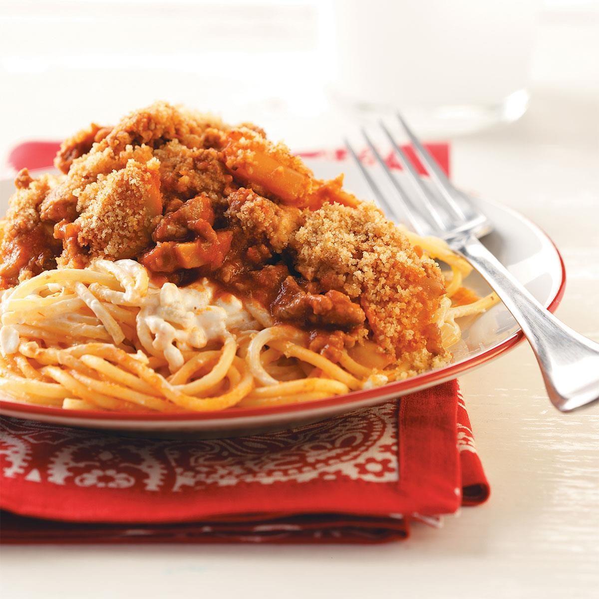 Potluck Baked Spaghetti