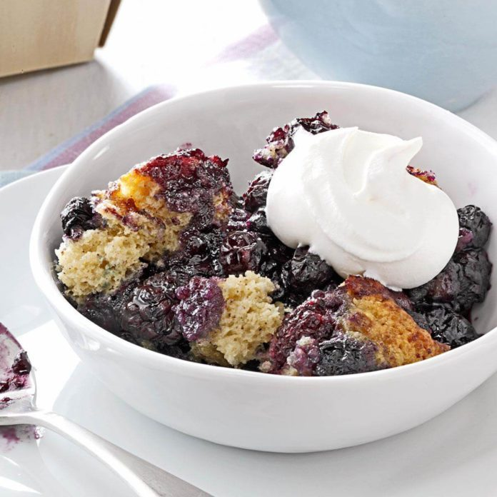 Pressure-Cooker Black and Blue Cobbler