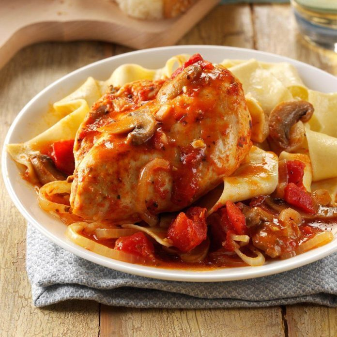 Pressure-Cooker Chicken Cacciatore