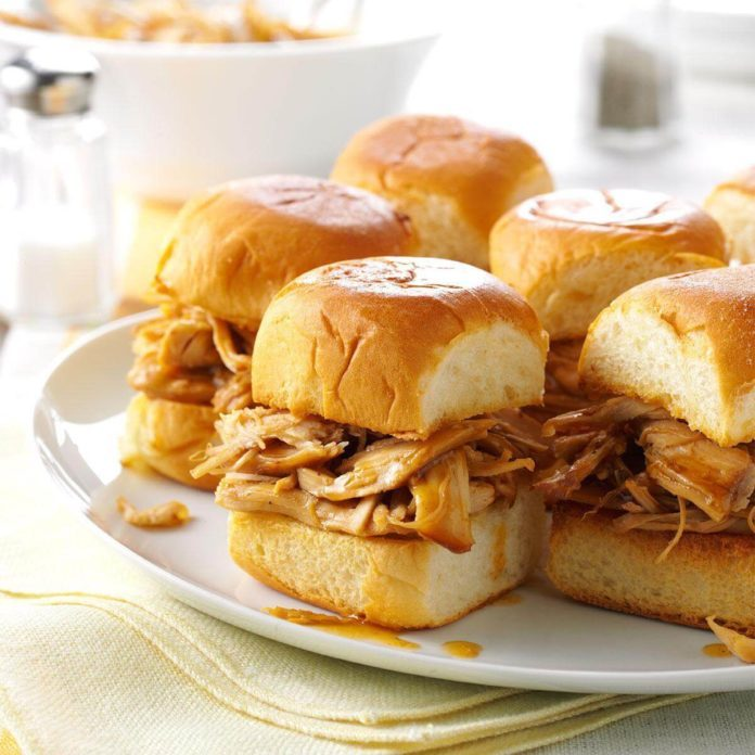 Instant Pot Mini Teriyaki Turkey Sandwiches