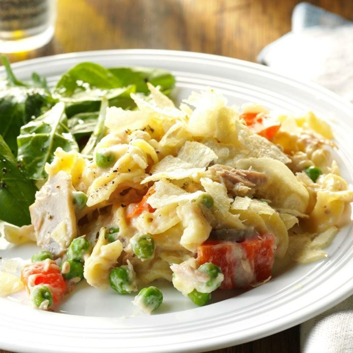 Day 18: Pressure Cooker Tuna Noodle Casserole