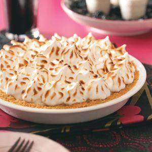 Raspberry Baked Alaska Pie