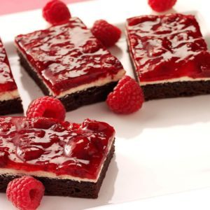 Raspberry Brownie Dessert