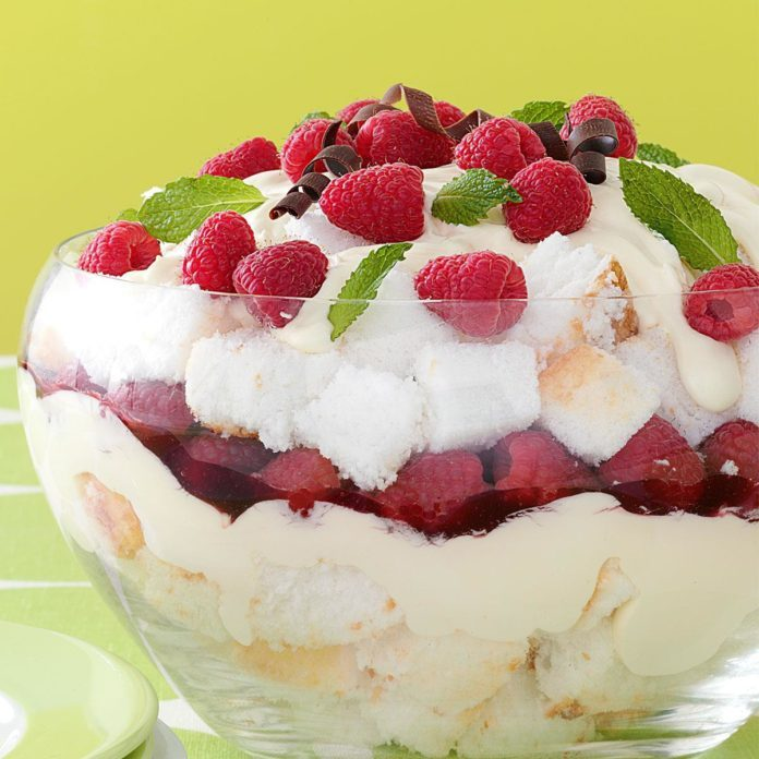 Raspberry Cream Trifle