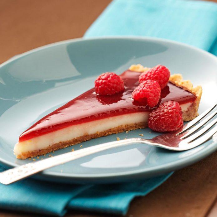 Raspberry Custard Tart
