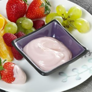 Raspberry-Lime Yogurt Dip for Fresh Fruit