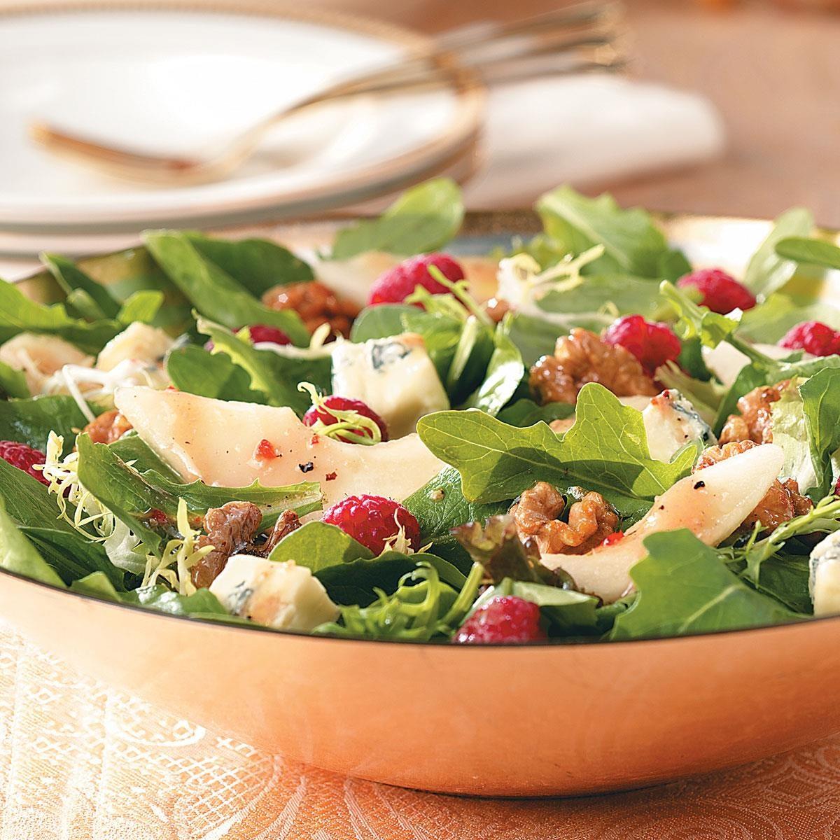 Raspberry And Walnut Kitchen: Raspberry Pear Salad With Glazed Walnuts Recipe