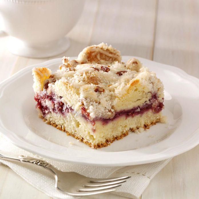 Raspberry Streusel Coffee Cake Recipe Taste Of Home