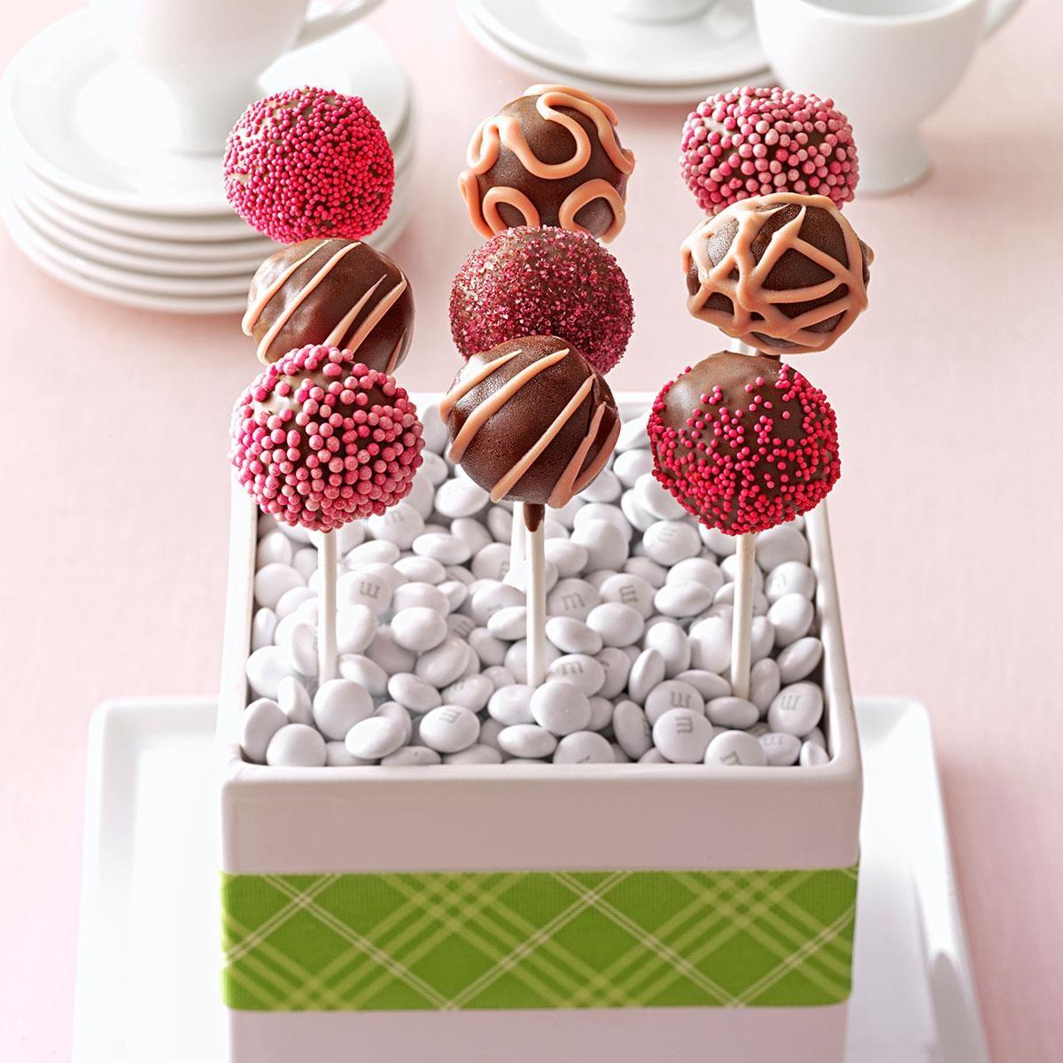 Raspberry Truffle Cake Pops Recipe Taste Of Home