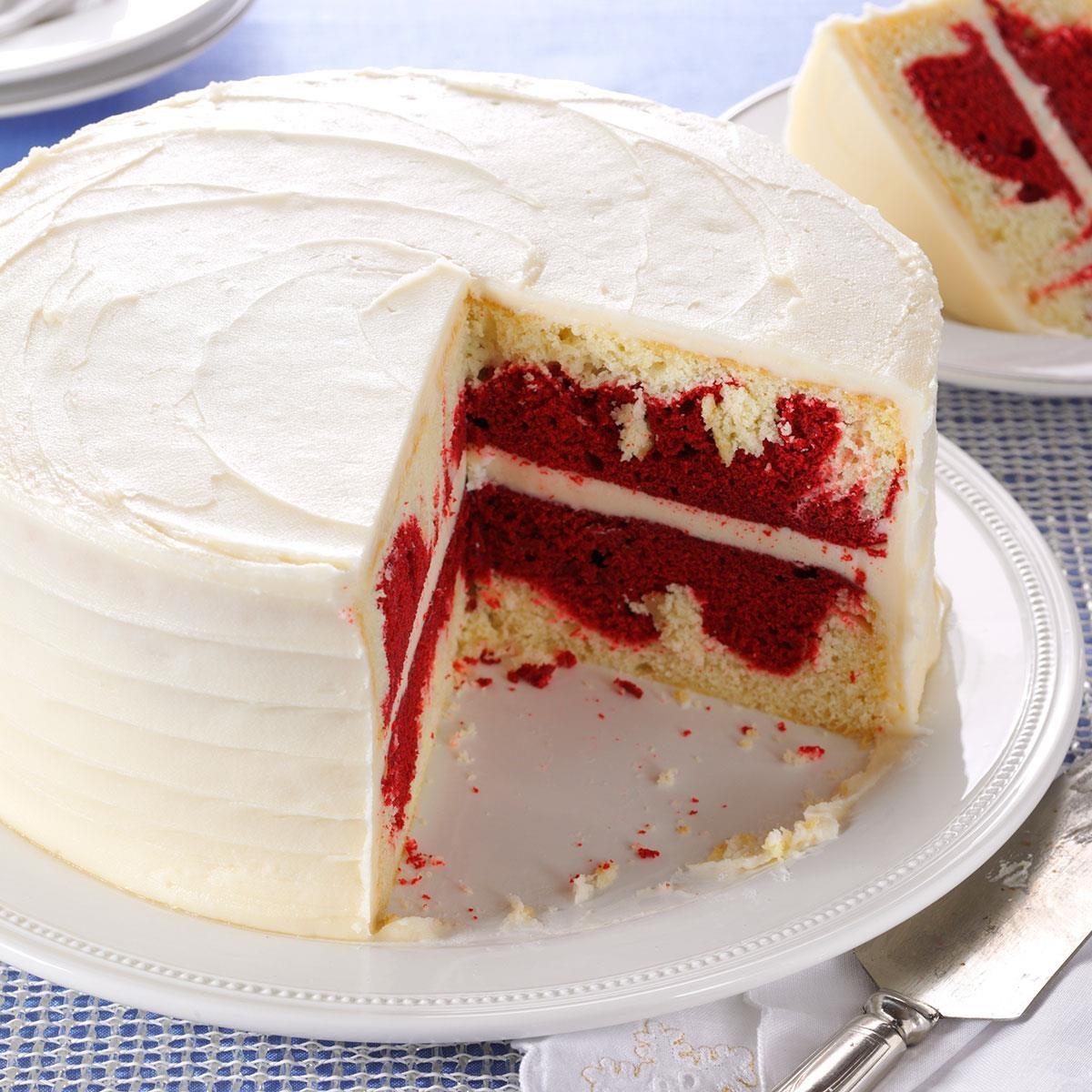 Awesome Red Velvet Marble Cake Recipe Taste Of Home Personalised Birthday Cards Beptaeletsinfo