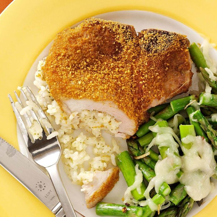 Rice-Stuffed Pork Chops