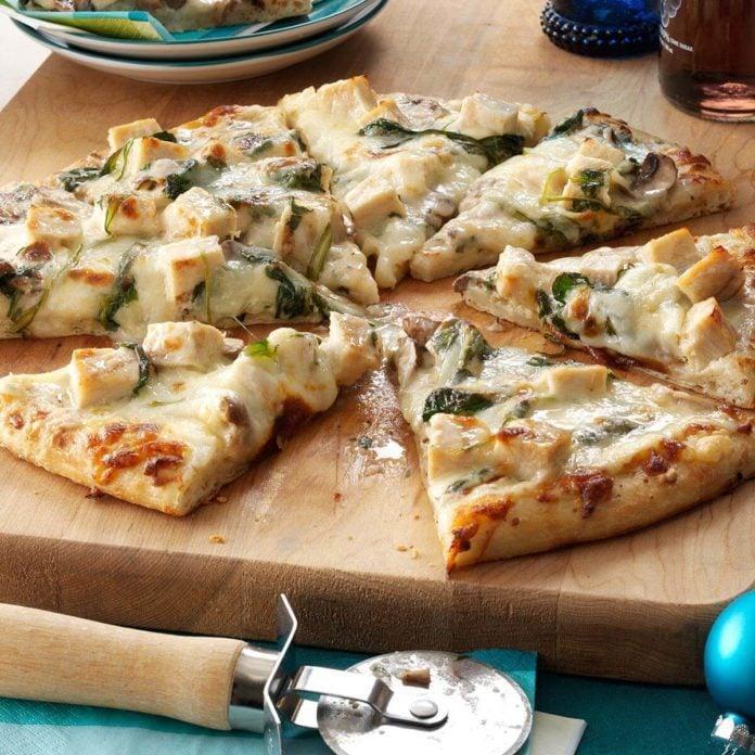 Rich Chicken Alfredo Pizza Recipe Taste Of Home