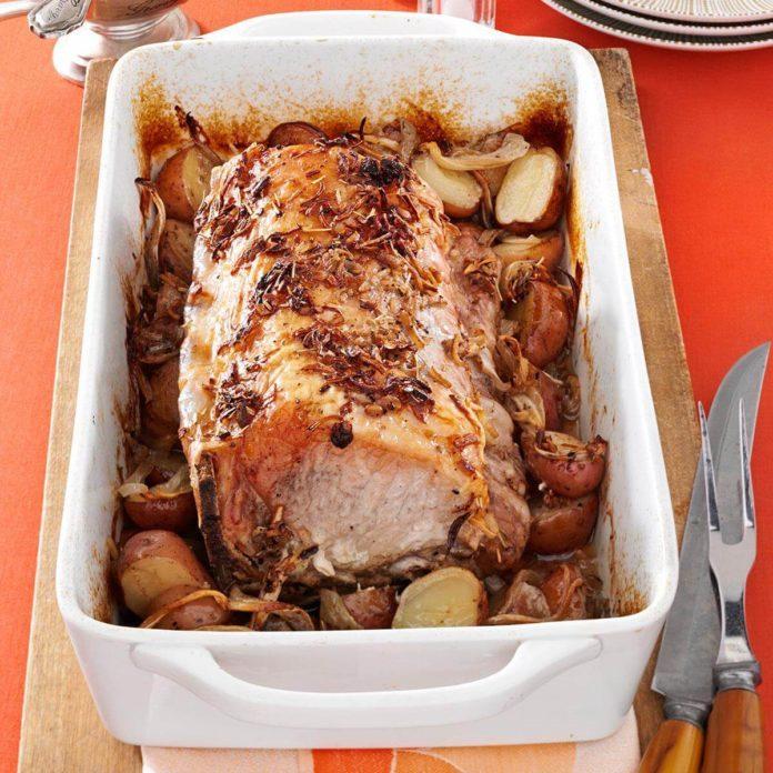 Roast Pork and Potatoes