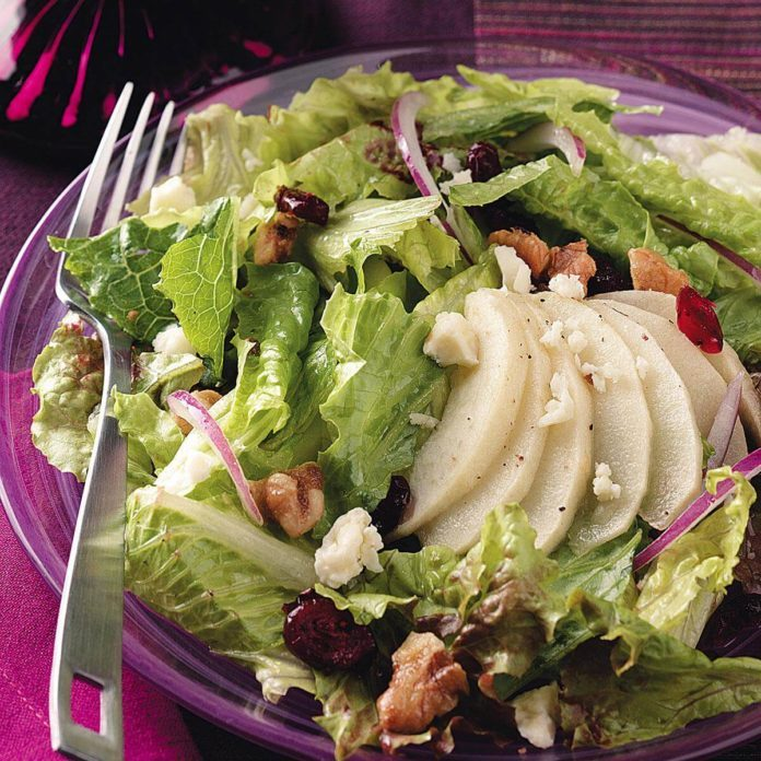 Roasted Apple & Candied Walnut Salad