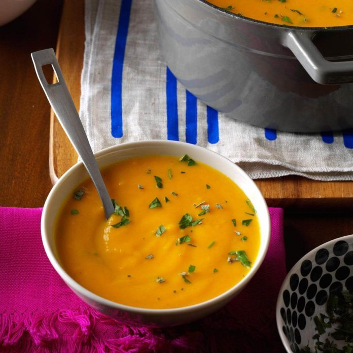 Soup and Salad Course: Roasted Autumn Vegetable Soup