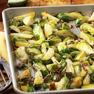 Roasted Brussels Sprouts with Hazelnuts