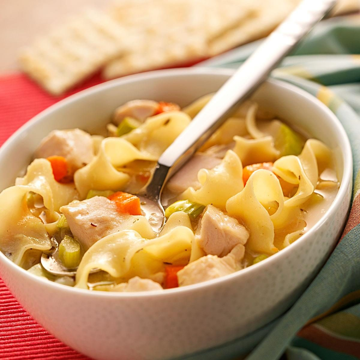 Roasted Chicken Noodle Soup Recipe Taste Of Home