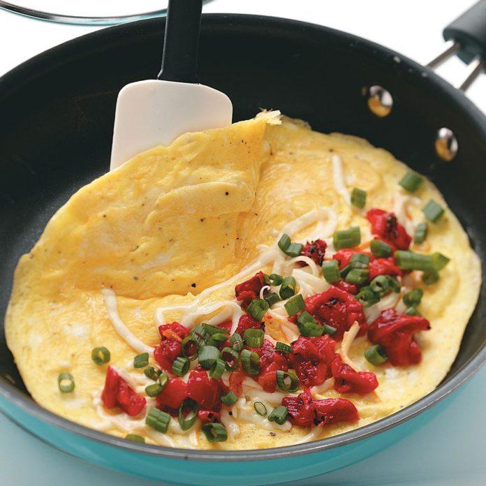 Roasted Red Pepper Omelets