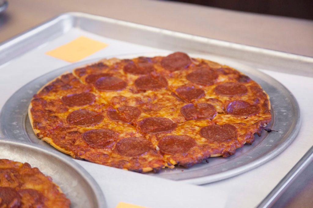 Jack's pizza on a platter