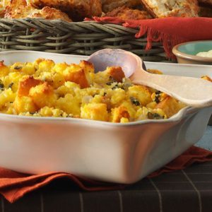 Sage-Roasted Turkey & Cornbread Stuffing